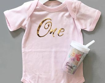 First Birthday Baby Bodysuit - Baby Boy - Baby Girl