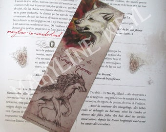 """Red Wolf """"in the footsteps of werewolves"""" bookmark"""