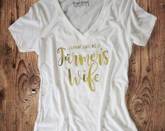 Lovin' Life as a Farmer's Wife Shirt - Farm Wife Shirt - Farm Shirt - Farmers Wife Shirt