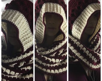 Robin Hooded infinity scarf perfect winter accessory for him or her!