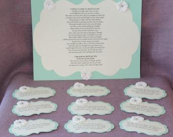 Wedding Gift Of Candles Poem : ... tag set bridal candle basket poem and tags sentimental wedding gift