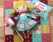 Howdy Cowgirl Doll Panel, Cowgirl Doll by Stacy Iest Hsu for Moda Fabrics, Hobby Horse, DIY Doll, 20550-11,  IN STOCK