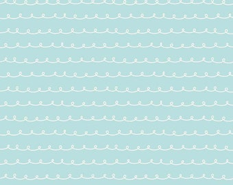 Little Dolly - Elea Lutz - C6365-BLUE - Dolly Curly Blue - Penny Rose Fabrics - Riley Blake Designs - IN STOCK