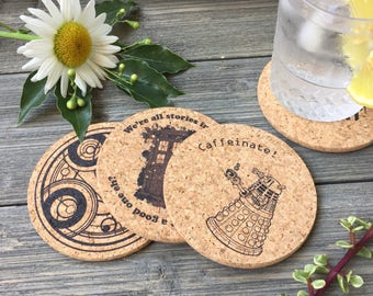 Doctor Who Cork Coaster Set of 4