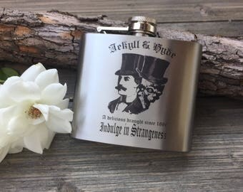 Dr Jekyll & Mr Hyde Flask, Stainless Steel, 5oz