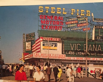 Vintage Postcard Atlantic City, N.J. Steel Pier 1966 Ed Hurst Vic Dana