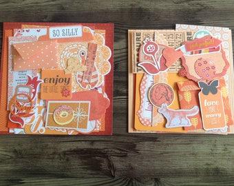 Mini kit, Inspiration pack, DIY kit, scrapbooking kit, cardmaking kit, gift wrapping kit, orange kit
