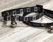 Adjustable Nylon Webbing Ribbon CAT Collar- Hand Made - Las Vegas Golden Knights Hockey Team