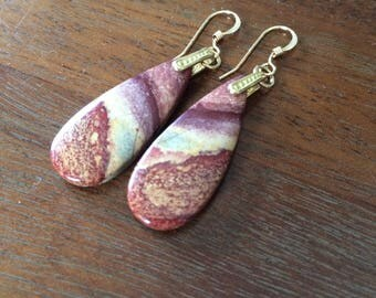 Ocean jasper earrings