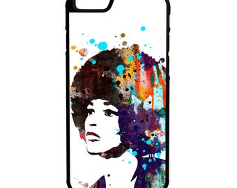 Angela Davis Painting Hybrid Protective Rubber Phone Case