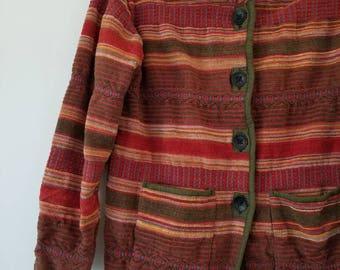 Vintage 100% Cotton Jacket / Bohemian Jacket