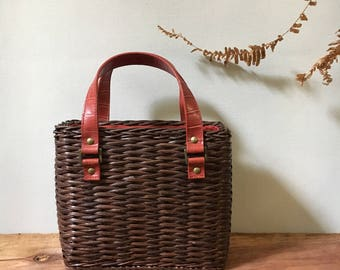 Vintage Basket Hand Purse