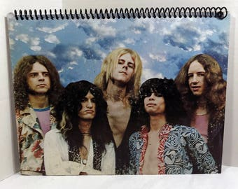 Aerosmith Album Cover Notebook Handmade Spiral Journal