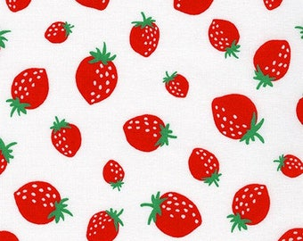 Mini Prints - Strawberry in White - Sevenberry - Robert Kaufman (SB-850133D3-1)