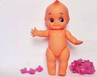 Large  35 cm Vintage Kewpie Doll, Made in Japan, Vinyl Collectibe, Retro Kitsch Decor, Nursery, Baby Shower, Gift Idea