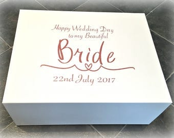 Bride Box | Bride Wedding Day Box | Bride Gift Box | Bespoke Personalised Bridal Box | Bride Keepsake Box