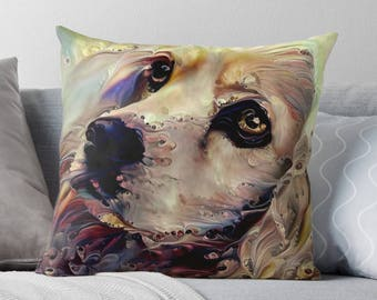 Cocker Spaniel Throw Pillow, Dog Decor, Cockerspaniel, Dog Cushion