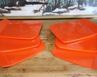 Vintage Scandinavian MCM Danish Set of 6 Rosti sandwich / sushi serving boards.Designed by Bjørn Christensen. Made in Denmark