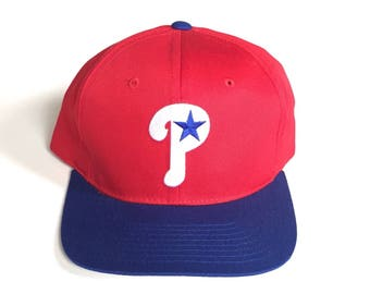 Starter Philadelphia Phillies vintage MLB Baseball Snapback Strapback hat Adjustable cotton twill One Size fits all royal blue red osfa DS