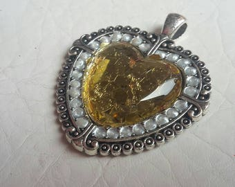 Steampunk jewelry/ heart pendant