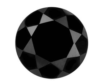 Thai Black Spinel Round Cut Loose Gemstone 1A Quality 11mm TGW 5.00 cts.