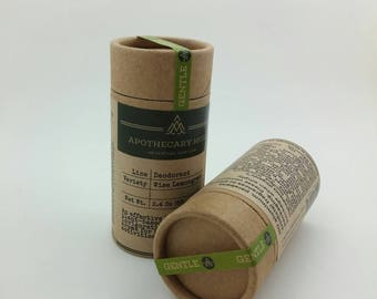 NEW SIZE - Deodorant Stick - Wise Lemongrass Sage - GENTLE, Clay and Herbs, No Aluminum, Sustainable Packaging - 2.4 oz