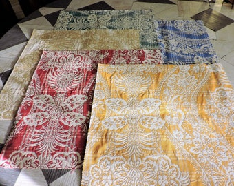 SET OF 10 COUPONS JACQUARD UPHOLSTERY FABRIC