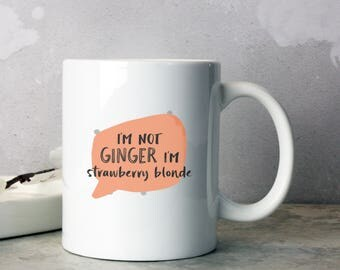Strawberry Blonde Funny Mug