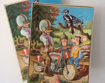 Vintage wooden puzzle Tom Bag