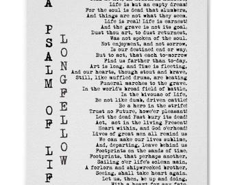 A Psalm of Life Henry Wadsworth Longfellow Poem Print