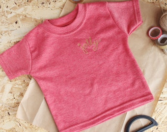 Golden Jolly limited edition embroidered t-shirt - gold Christmas unisex gift
