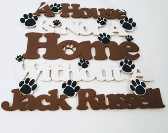 Jack Russell Wooden Sign, Dog Gift, Jack Russell Gift, Jack Russell Terrier, Jack Russell Art, Dog Christmas Gift, Dog Sign, Wooden Dog Sign