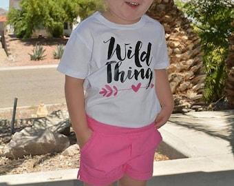 ON SALE Wild Thing Shirt or Baby Bodysuit - Funny Toddler Shirt, Birthday Shirt, Kids Shirt