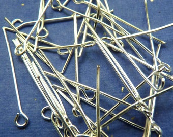 SET of 50 posts nails to look silver 28 x 0.7 mm