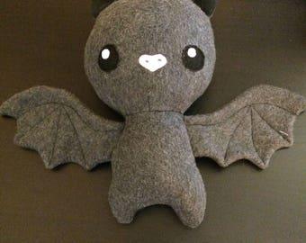 Stuffed bat plushie, cute custom stuffed bat