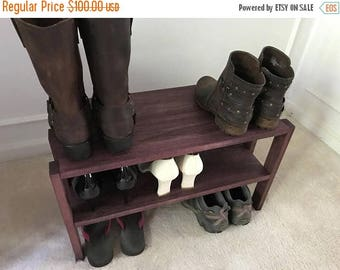 ON SALE Beautiful Solid Wood Shoe Rack, Entryway Shoe Rack, Closet Shoe Rack, Closet Organizer, Shoe Stand, Shoe Shelving