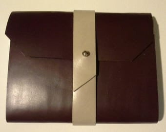 Notebook to scribble covered leather Burgundy color