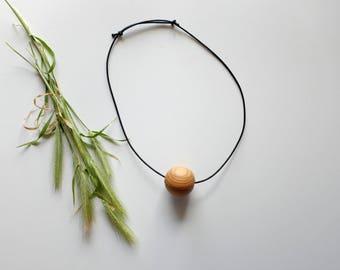 Wood Pendant, Wood Necklace, Long Wooden Necklace, Unique Necklace, Rustic Pendant, Gift for Her, Vegan Pendant,  Natural Pendant