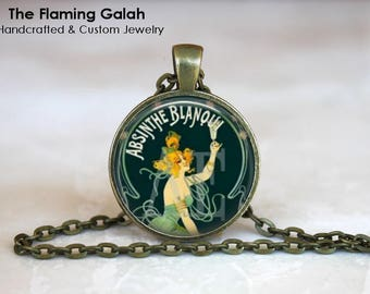 ABSINTHE Pendant • The Green Fairy • Absinthe • Czech Absinthe • Vintage Absinthe • Gift Under 20 • Made in Australia (P1104)