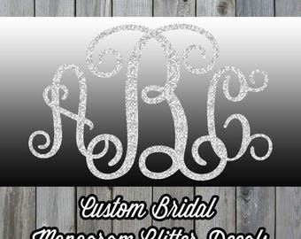 Custom Monogram Bridal Party Iron On Decal