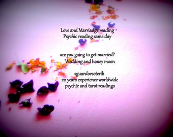 Love reading psychic reading, are you going to get married?, romance reading, marriadge reading, same day reading, pdf file via email
