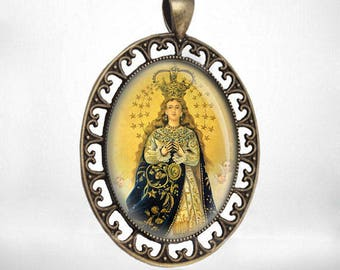 Our Lady Of Milagros Caacupe Virgin Mary Medal Catholic Jewelry NEW