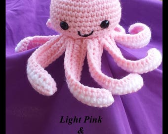 Adorable Handmade Crochet Mini Amigurumi Octopi, Amigurumi, Stuffed Octopi, Stuffed Animal, Cute Octopi, Octopus, Toy Octopus