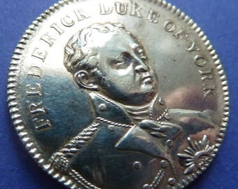 British Historical Medal Of 1827 Commemorating The Death Of The Duke Of York