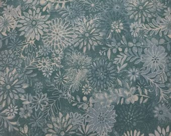 Aqua 100 percent cotton batik fabric/quilting/by the yard/crafts/apparel/by the yard