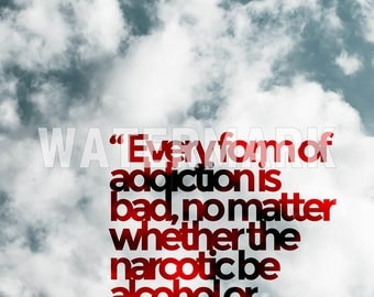 """Carl Jung Quote Poster 2 """"Every form of addiction..."""" Photo Poster Art Gift"""