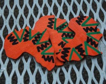 Africa Kente Wood Pin