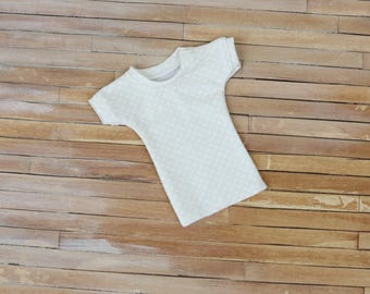 Minifee T-Shirt in Cream with Dots