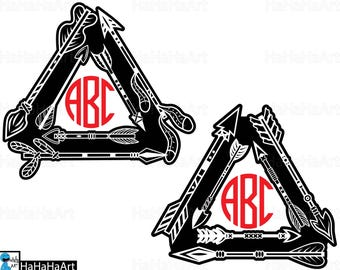 Triangle Native Arrows - Clipart / Cutting Files svg png jpg dxf studio3 digital graphic design Instant Download Commercial Use 01094c