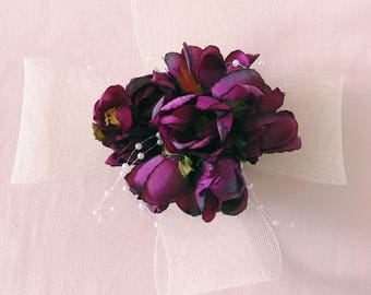 Purple Flower Fascinator-wedding,bridal,wedding guest,purple,party.